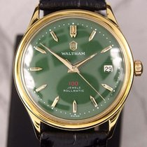 Waltham 100 Jewels Rollmatic Date Green Dial Automatic