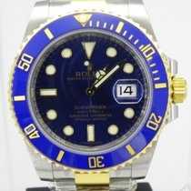 Rolex Submariner Date Steel and Gold Blue Dial Ceramic Bezel...