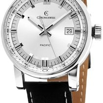 Chronoswiss Pacific Automatic Steel Mens Strap Watch Calendar...