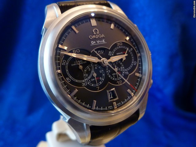 Omega DeVille 4 Counters Chrono Co-Axial Falt. Box+Pap. NP 6800,-