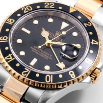 Rolex 18/SS GMT Master ll Gold-Thru Buckle 16713 model 2000's
