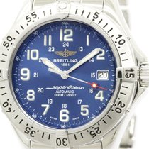Breitling Polished Breitling Superocean Steel Automatic Mens...
