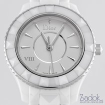 Dior VIII White Ceramic Case and Bracelet Ladies' 33mm Quartz...