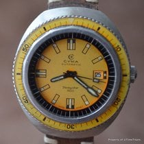 Cyma DIVINGSTAR 1500 YELLOW 43MM RARE ACRYLIC BEZEL 20 ATM...