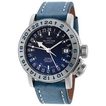 Glycine Airman 18 Blue Dial Automatic Blue Leather Watch
