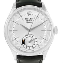 Rolex Cellini Dual Time White Gold Automatic Watch 50529 Unworn