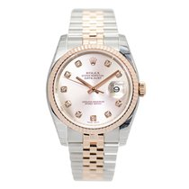 Rolex Datejust 18k Rose Gold And Steel Pink Automatic 116231GPK_J