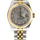 Rolex Datejust ladies 31mm jubilee yellow gold diamond 179163 NEW
