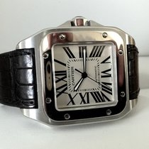 Cartier Santos 100 XL Steel White Roman Dial (51 x 40 mm)