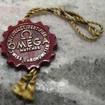 Omega vintage plastic red tag officially certified chronometer