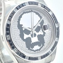 Rolex DATEJUST II Skull Diamond Brillant Dial + Baguette LC100