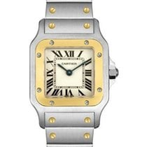 Cartier Santos Stainless Steel and 18k Yellow Gold 187901
