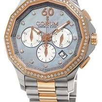 Corum Admirals Cup Legend Chronograph in Steel and Rose Gold...