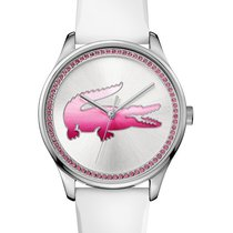 Lacoste Victoria Womens Watch - Pink Accents - White Rubber...
