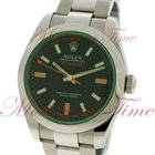 Rolex Milgauss, Black Dial, Green Sapphire Crystal - Stainless...
