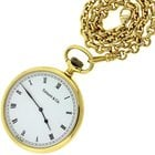 Tiffany 18k Yellow Gold Quartz 50mm Pocket Watch & Fob...