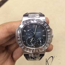 Patek Philippe 5724G Nautilus White Gold with Diamond Baguette