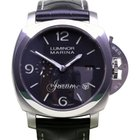 Panerai PAM 312 Luminor Marina 1950's Black Leather...