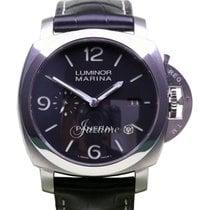 Panerai PAM 312 Luminor Marina 1950's Black Leather...