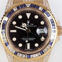 Rolex GMT II Saphire DIamonds Aftermarket Juwelier Grace