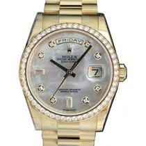 Rolex Day-Date 36 118348-MOPDDP White Mother Of Pearl Diamond...