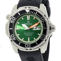 Deep Blue Sea Quest Diver 1000 Day/date Diving Watch Green...