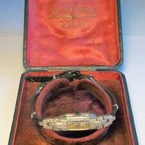 Nivada Platin Damenarmbanduhr 1920 38 Diamanten
