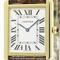 Cartier Polished Cartier Tank Solo Lm 18k Gold Quartz Mens...