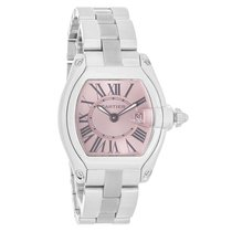 Cartier Roadster Ladies Stainless Steel Swiss Quartz Watch...