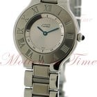Cartier Must 21 Large, Silver Dial - Stainless Steel on Bracelet