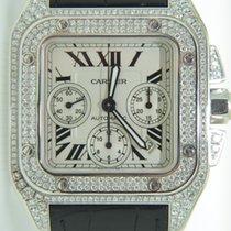 Cartier Santos 100 White gold,Factory setted Diamonds,Retail:...