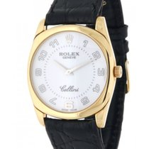 Rolex Cellini 4233 In Oro Giallo E Pelle, 34mm
