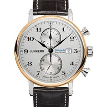 Junkers South America Swiss Quartz 41mm Chrono Watch Gold...