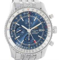 Breitling Navitimer World Gmt Chronograph Blue Dial Watch...