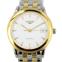 Longines Flagship 18 K Yellow Gold White Automatic L4.774.3.22.7