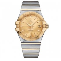 Omega Constellation SS & Yellow Gold Champagne Dial ...