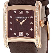 Frederique Constant Delight Carree RG Plated Diamond Womens...