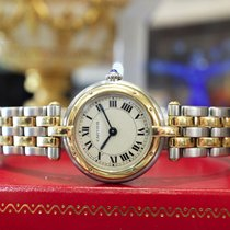 Cartier Panther Panthere 18k Gold Stainless Steel 24mm Round...