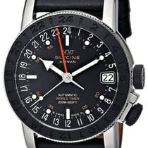 Glycine Airman 17 Sphair Automatic GMT Worldtimer Steel Mens...