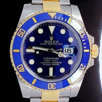 Rolex Submariner 116613 Lb Two Tone 18k Yellow Gold &...