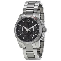 Longines Conquest Grey Dial Chronograph Steel and Ceramic Mens...