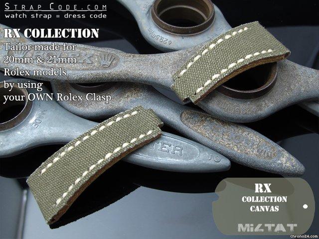 Canvas Strap Rolex M-green Canvas Watch Strap