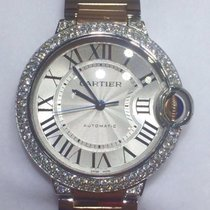 Cartier BALLON BLEU ROSE GOLD/STEEL 36MM DIAMONDS
