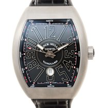 Franck Muller New  Vanguard Stainless Steel Black Automatic...