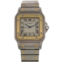 Cartier Men's Cartier Santos Galbee 18k Yellow Gold &...