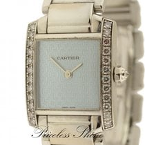 Cartier Tank Francaise 18k White Gold Boutique Ladies W/origin...