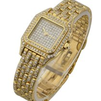 Cartier Yellow Gold Panther with Full Pave Diamonds