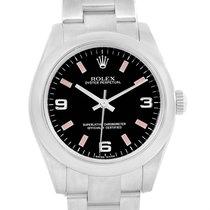 Rolex Midsize Black Dial Pink Hour Markers Steel Ladies Watch...