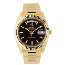 Rolex Day-Date 40 18K Yellow Gold President Black Dial