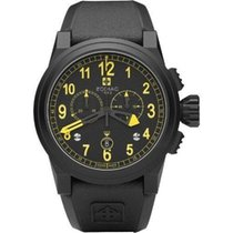 Zodiac Zmx-04 Men's Avaitor Black Yellow Watch Zo8528